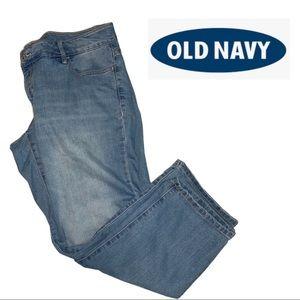 Old Navy Plus Size Light Wash Capris